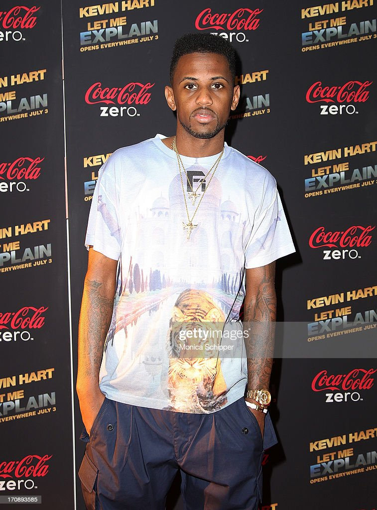 Hip Hop artist Fabolous attends the 'Kevin Hart:Let Me Explain' premiere at Regal Cinemas Union Square on June 19, 2013 in New York City.