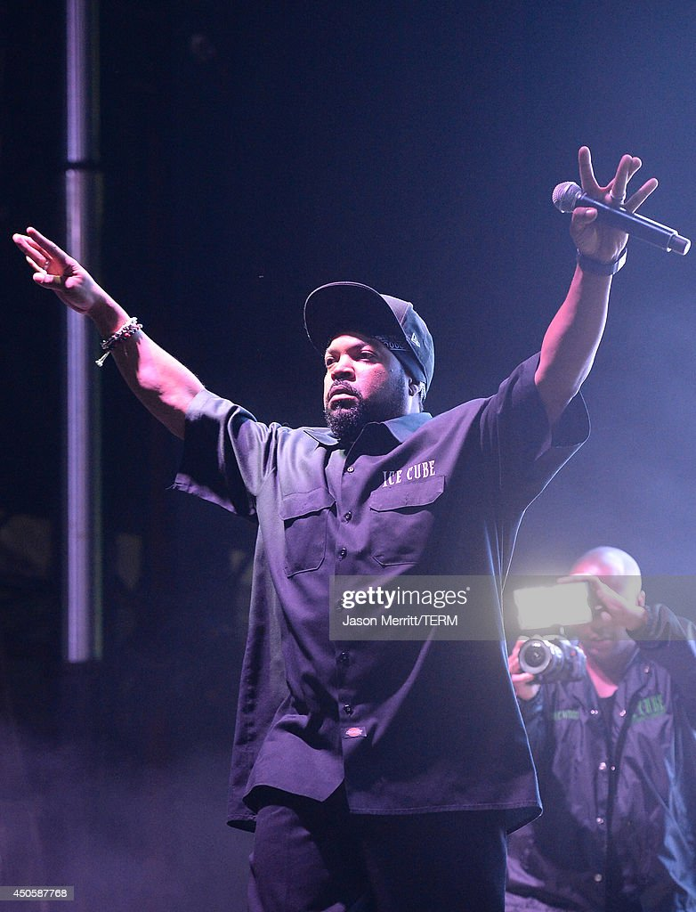 Hip hop artist Ice Cube performs at the Bonnaroo Music & Arts Festival on June 13, 2014 in Manchester, Tennessee.