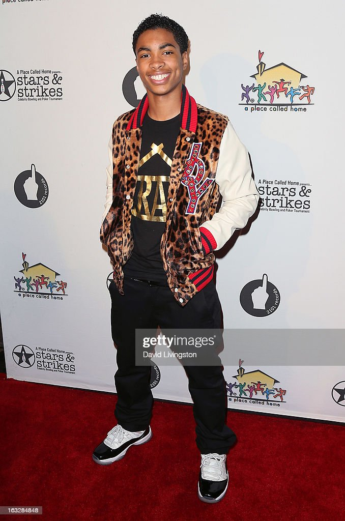 Hip hop artist Jordan Newt attends the 7th Annual 'Stars & Strikes' Celebrity Bowling and Poker Tournament benefiting A Place Called Home at PINZ Bowling & Entertainment Center on March 6, 2013 in Studio City, California.