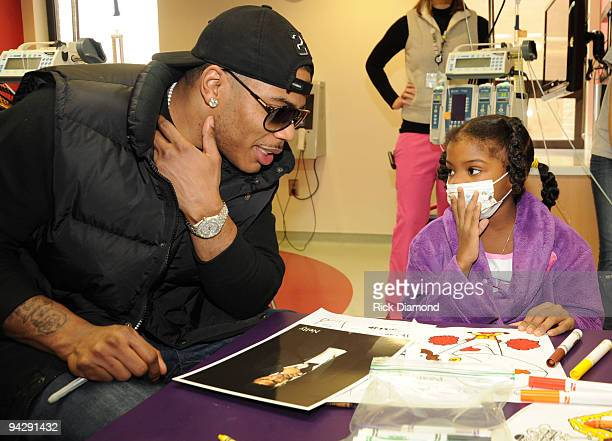 COVERAGE*** Hip Hop Artist Nelly visits with patients at the 'Aflac Childrens Cancer Center of Atlanta' at Children�s Healthcare of Atlanta Egleston...