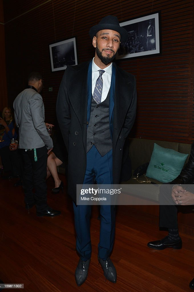 Hip Hop artist <a gi-track='captionPersonalityLinkClicked' href=/galleries/search?phrase=Swizz+Beatz&family=editorial&specificpeople=567154 ng-click='$event.stopPropagation()'>Swizz Beatz</a> attends The Hip Hop Inaugural Ball II sponsored by Heineken USA at Harman Center for the Arts on January 20, 2013 in Washington, DC.