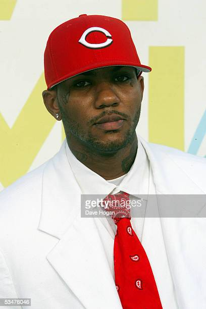 Hip hop artist The Game arrives at the 2005 MTV Video Music Awards at the American Airlines Arena August 28 2005 in Miami Florida
