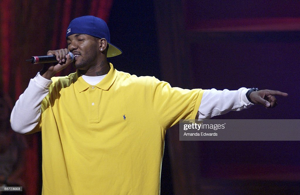 Hip Hop artist The Game performs at the 'ReAct Now Music Relief' benefit concert at Paramount Studios on September 9 2005 in Hollywood California The...