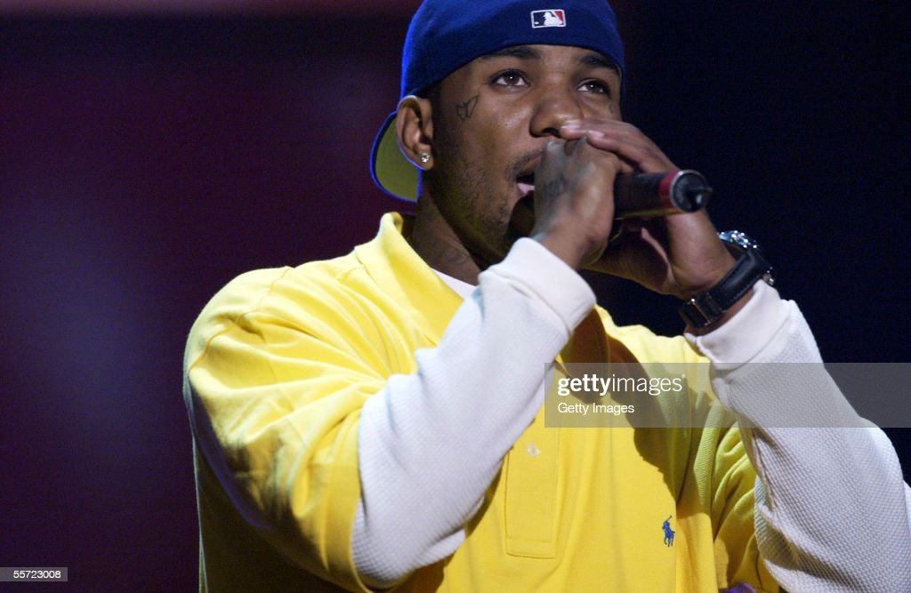 Hip Hop artist The Game performs at the 'ReAct Now Music Relief' benefit concert at Paramount Studios on September 10 2005 in Hollywood California...