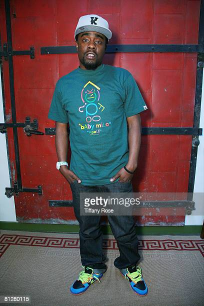 Hip Hop artist Wale poses at the Rock the Bells/Myspace 2008 Festival Series Press Conference at the Hip Kitty Jazz and Fondue on April 22 2008 in...