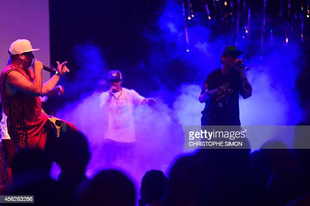 Hip Hop band with Mathias Cassel of Assassin and Z'Africa group perform on the stage of the BrazilianFrench 'Planeta Ginga' film and music free...
