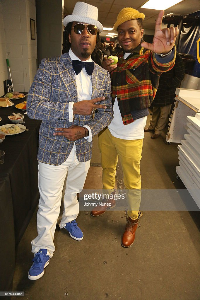 Hip Hop duo Camp Lo backstage at B.B. King Blues Club & Grill on November 13, 2013 in New York City.