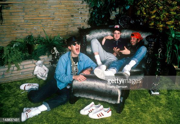 Hip Hop Group Beastie Boys are photographed at the Graceland Mansion for Self Assignment on January 1 1987 in Memphis Tennessee