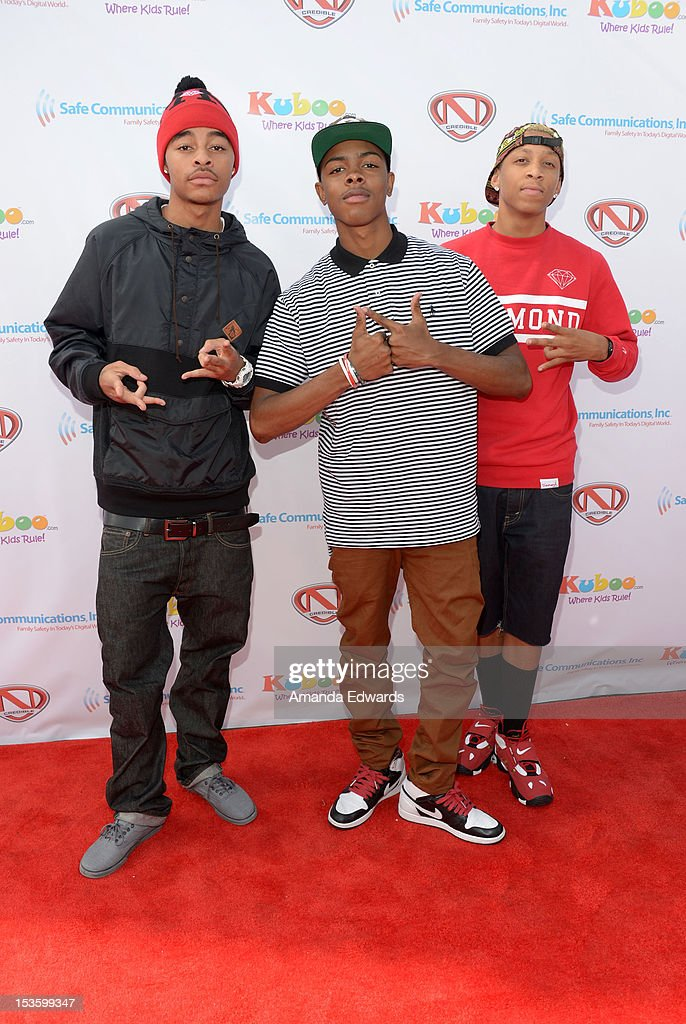 Hip Hop group The Rangers arrive at 'Family Day' hosted by Nick Cannon at Santa Monica Pier on October 6, 2012 in Santa Monica, California.