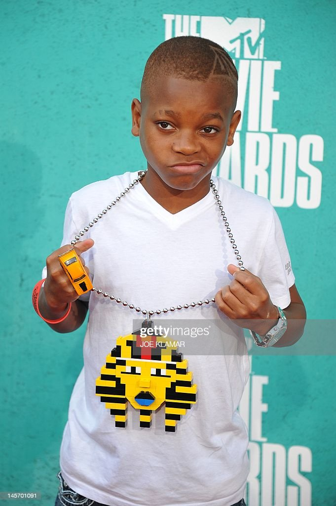 Hip hop rapper Lil Niqo arrives at the MTV Movie Awards at Universal Studios, in Los Angeles, California, on June 3, 2012.
