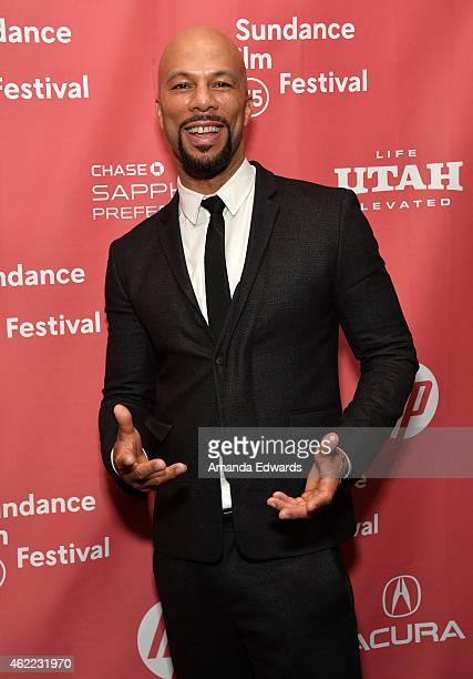 Hip hop recording artist Common poses backstage at the Celebration of Music in Film event during the 2015 Sundance Film Festival on January 25 2015...