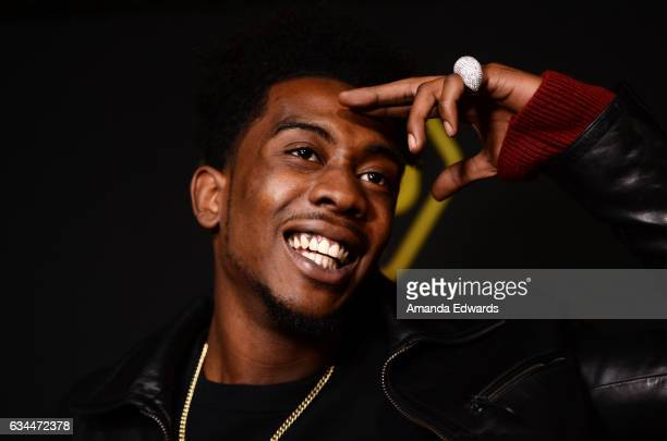 Hip hop recording artist Desiigner arrives at the 2017 Billboard Power 100 party at Cecconi's on February 9 2017 in West Hollywood California