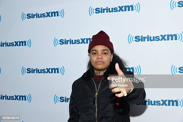 Hip hop recording artist Young MA visits at SiriusXM Studio on December 14 2016 in New York City