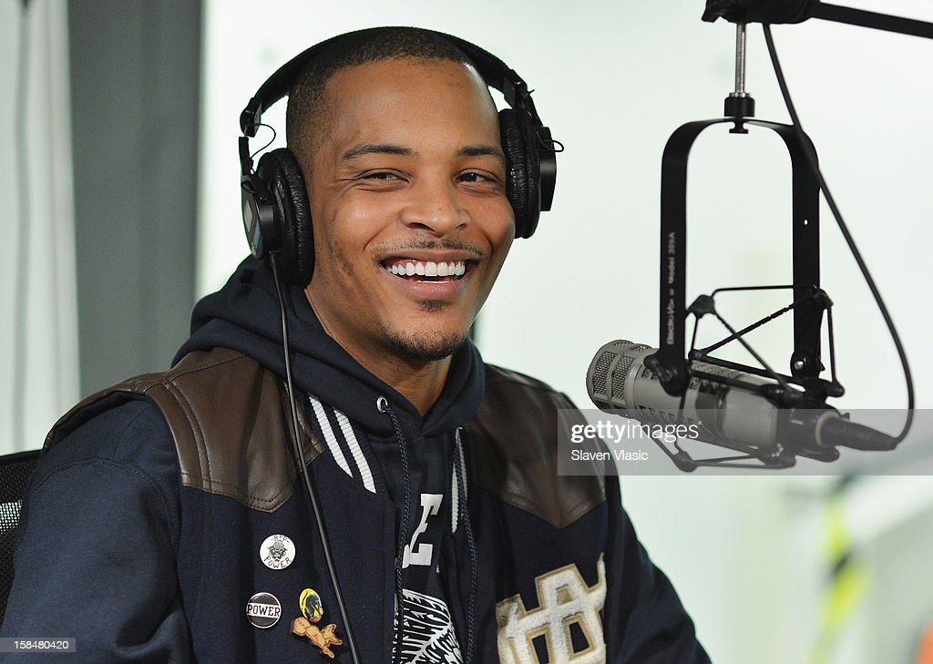 Hip hop recording artist/actor T.I. visits the SiriusXM Studios on December 17, 2012 in New York City.