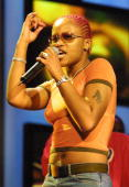Hip Hop singer Eve rehearses April 26 2001 for the Essence Awards at the Theatre at Madison Square Garden in New York City