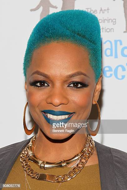 Hip Hop Star Sharaya J attends the BronxWide Poetry Slam Finals And Event hosted by DreamYard Project at Joe's Pub on February 2 2016 in New York City