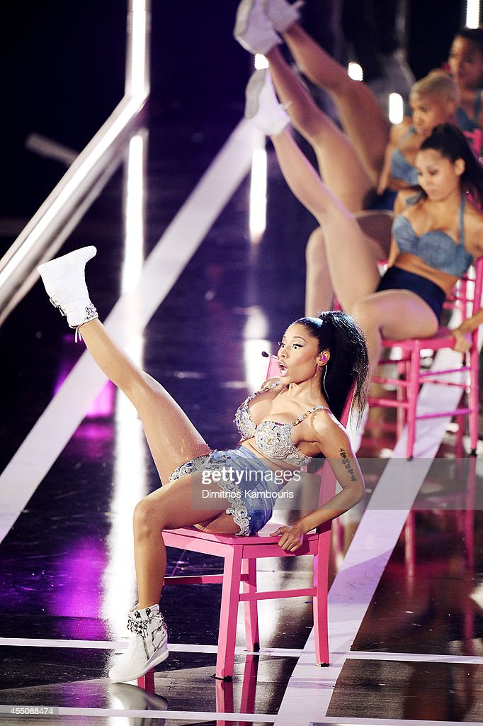 Hiphip artist Nicki Minaj performs onstage at Fashion Rocks 2014 presented by Three Lions Entertainment at the Barclays Center of Brooklyn on...