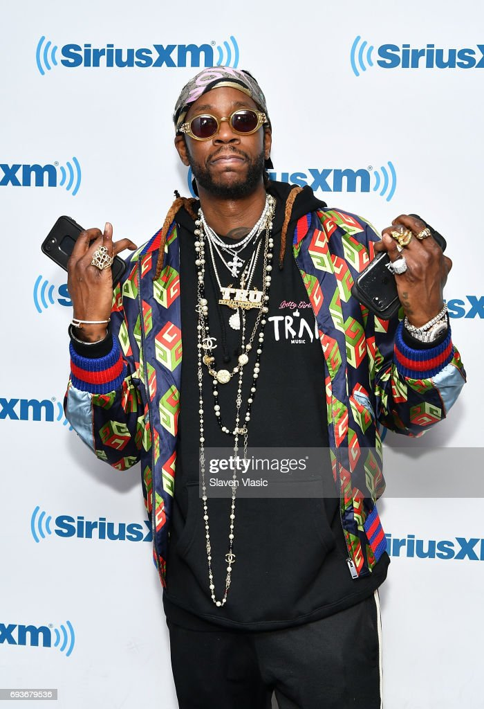 Hip-hop artist 2 Chainz visits SiriusXM Studios on June 7, 2017 in New York City.