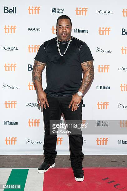 Hiphop Artist and Actor Busta Rhymes attends the premier of 'King Of The Dancehall' at the Ryerson Theatre on September 11 2016 in Toronto Canada