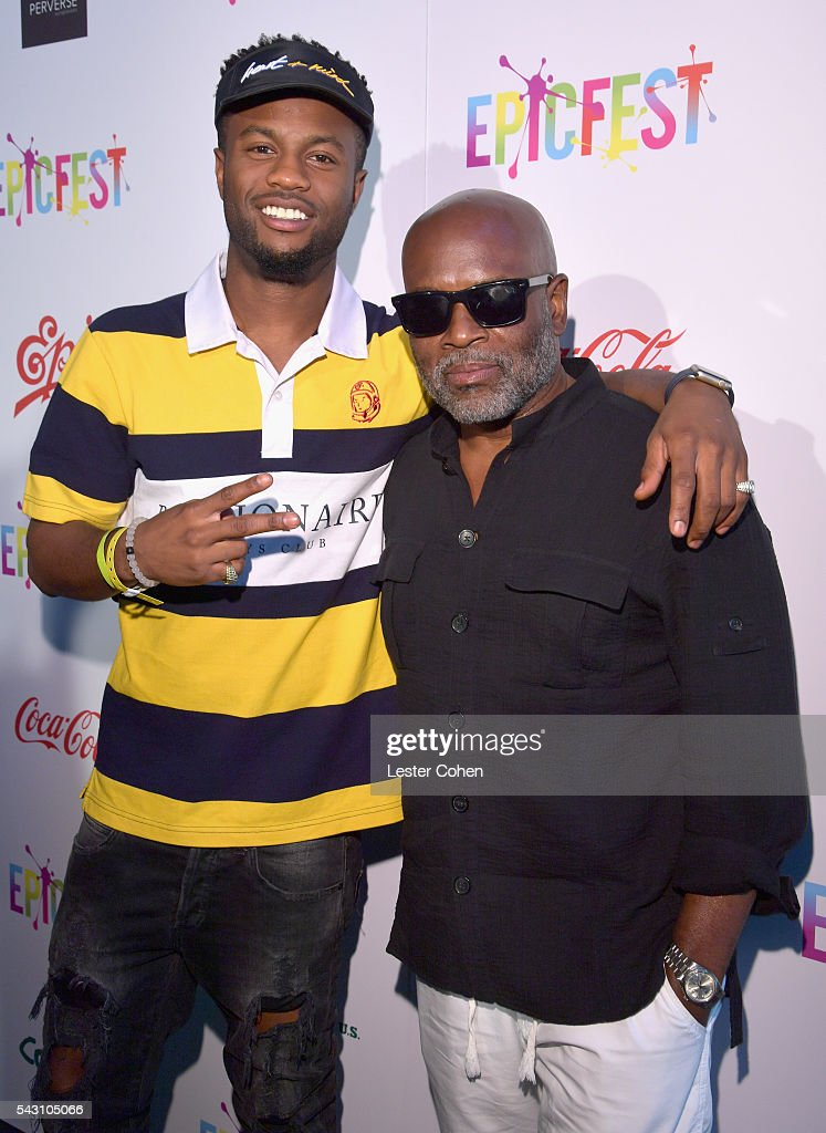 Hip-hop artist Casey Veggies (L) and Chairman and CEO of Epic Records, <a gi-track='captionPersonalityLinkClicked' href=/galleries/search?phrase=L.A.+Reid&family=editorial&specificpeople=2546947 ng-click='$event.stopPropagation()'>L.A. Reid</a> attend EpicFest 2016 hosted by <a gi-track='captionPersonalityLinkClicked' href=/galleries/search?phrase=L.A.+Reid&family=editorial&specificpeople=2546947 ng-click='$event.stopPropagation()'>L.A. Reid</a> and Epic Records at Sony Studios on June 25, 2016 in Los Angeles, California.