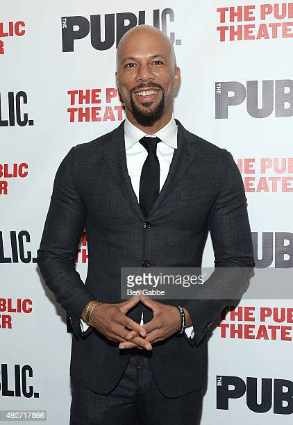 Hiphop artist Common attends 'Eclipsed' Opening Night at The Public Theater on October 14 2015 in New York City