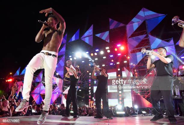 Hiphop artist Desiigner performs onstage at MTV Woodies LIVE on March 16 2017 in Austin Texas