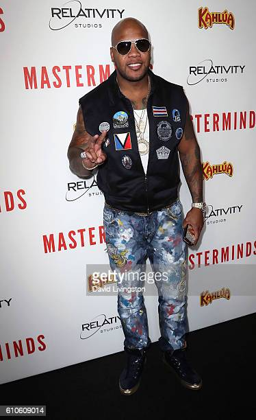 Hiphop artist Flo Rida attends the premiere of Relativity Media's 'Masterminds' at TCL Chinese Theatre on September 26 2016 in Hollywood California