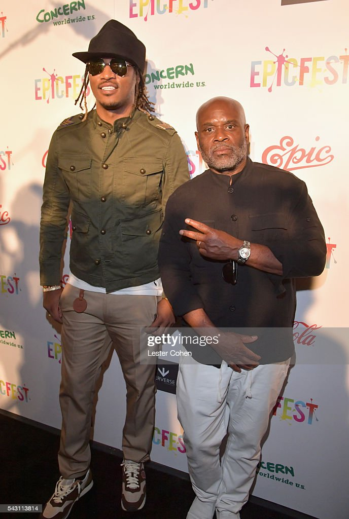 Hip-hop artist Future (L) and Chairman and CEO of Epic Records, L.A. Reid attend EpicFest 2016 hosted by L.A. Reid and Epic Records at Sony Studios on June 25, 2016 in Los Angeles, California.