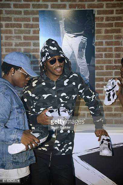 Hiphop artist Future poses for a photo with the new Instapump Fury Overbranded sneaker at Reebok's launch of the new Instapump Fury Overbranded at...