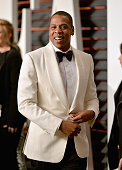 Hiphop artist JayZ attends the 2015 Vanity Fair Oscar Party hosted by Graydon Carter at Wallis Annenberg Center for the Performing Arts on February...