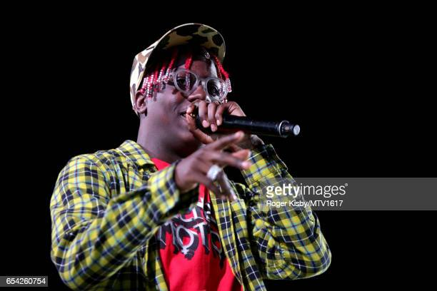 Hiphop artist Lil Yachty performs onstage at MTV Woodies LIVE on March 16 2017 in Austin Texas