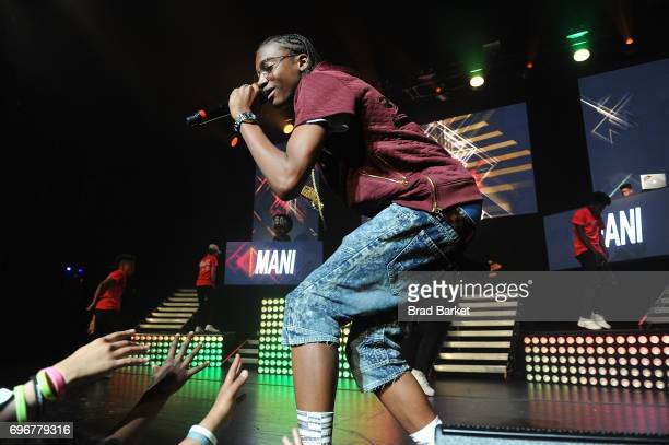 Hiphop artist Mani performs at Jermaine Dupri presents SoSoSummer 17 Tour at The Beacon Theatre on June 16 2017 in New York City
