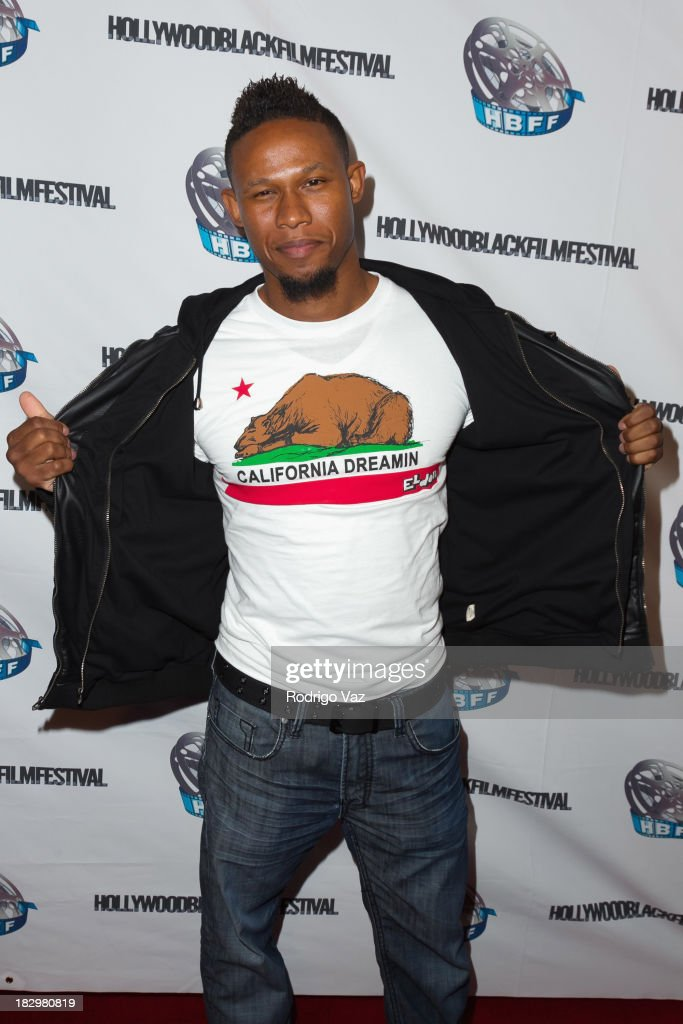 Hip-Hop artist P.B. attends the Opening Night for the Hollywood Black Film Festival (HBFF) Arrivals at The Ricardo Montalban Theatre on October 2, 2013 in Hollywood, California.