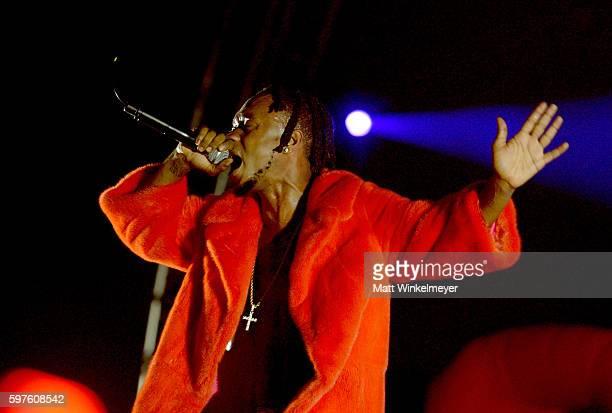 Hiphop artist Slim Jimmy of Rae Sremmurd performs onstage during FYF Fest 2016 at Los Angeles Sports Arena on August 28 2016 in Los Angeles California