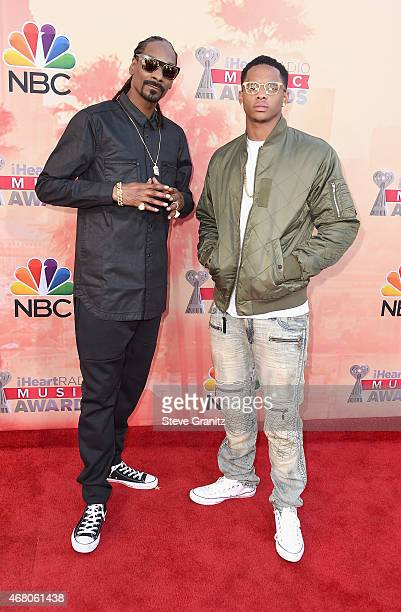 Hiphop artist Snoop Dogg and Cordell Broadus attend the 2015 iHeartRadio Music Awards which broadcasted live on NBC from The Shrine Auditorium on...