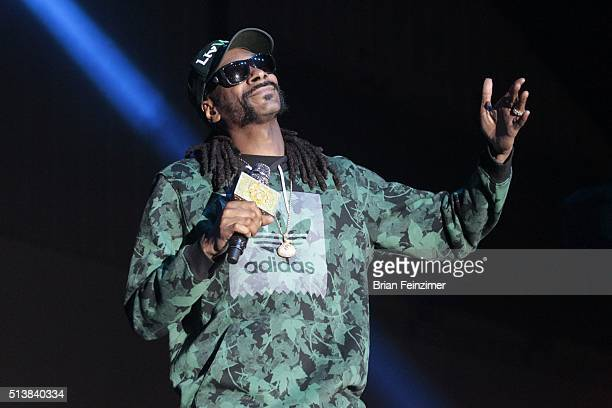 HipHop artist Snoop Dogg performs at OC Fair and Event Center on March 04 2016 in Costa Mesa California