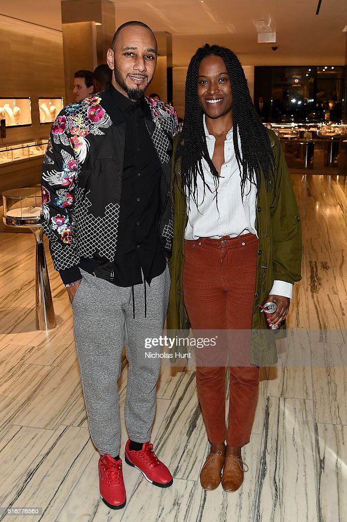 Hip-hop artist Swizz Beatz and Nicole Vassell attend as Barneys New York celebrates its new downtown flagship in New York City on March 17, 2016 in New York City.