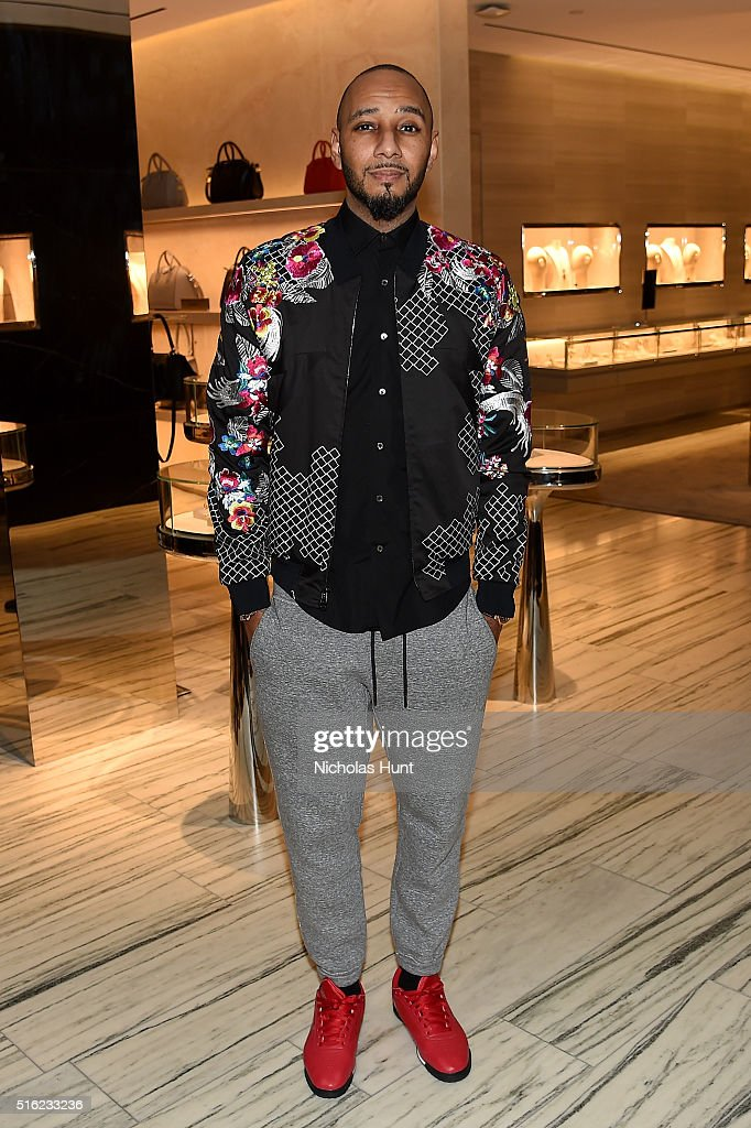 Hiphop artist Swizz Beatz attends as Barneys New York celebrates its new downtown flagship in New York City on March 17 2016 in New York City