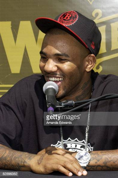 Hiphop artist The Game holds a press conference to announce his 'How The West Was One' US Tour with Snoop Dogg on April 6 2005 in Los Angeles...