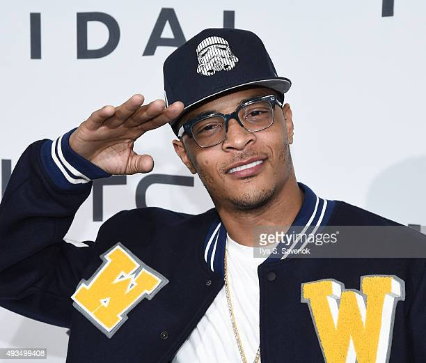 Hiphop artist TI attends TIDAL X 1020 at Barclays Center on October 20 2015 in the Brooklyn borough of New York City