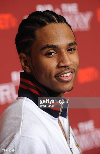 Hiphop artist Trey Songz attend BET's 'Rip the Runway' at The Manhattan Center February 21 2008 in New York City