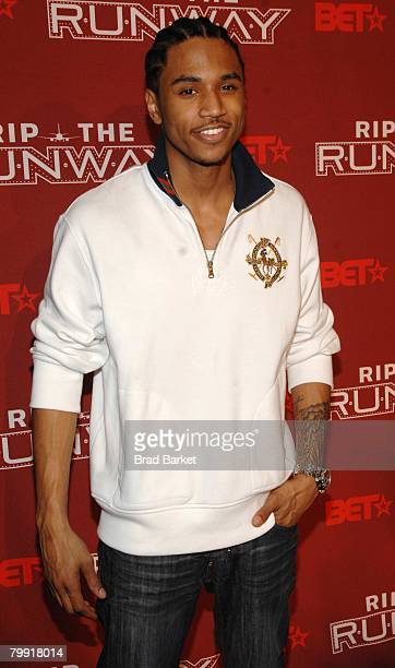 Hiphop artist Trey Songz attends BET's 'Rip the Runway' at The Manhattan Center February 21 2008 in New York City