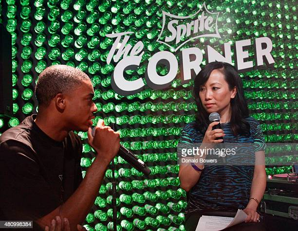Hiphop artist Vince Staples joined Miss Info and answered questions from a group of fans before a concert Thursday July 16 at The Sprite Corner...