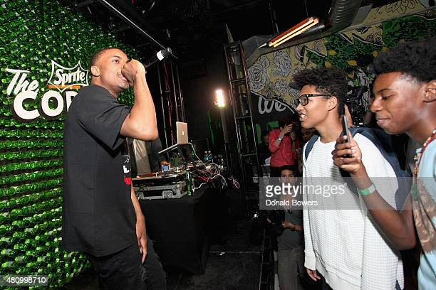 Hiphop artist Vince Staples performed in front of fans Thursday July 16 at The Sprite Corner Located at 188 Bowery in New York City's Nolita...