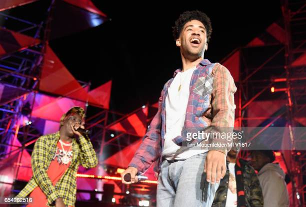 Hiphop artists Lil Yachty and SuperDuperKyle perform onstage at MTV Woodies LIVE on March 16 2017 in Austin Texas