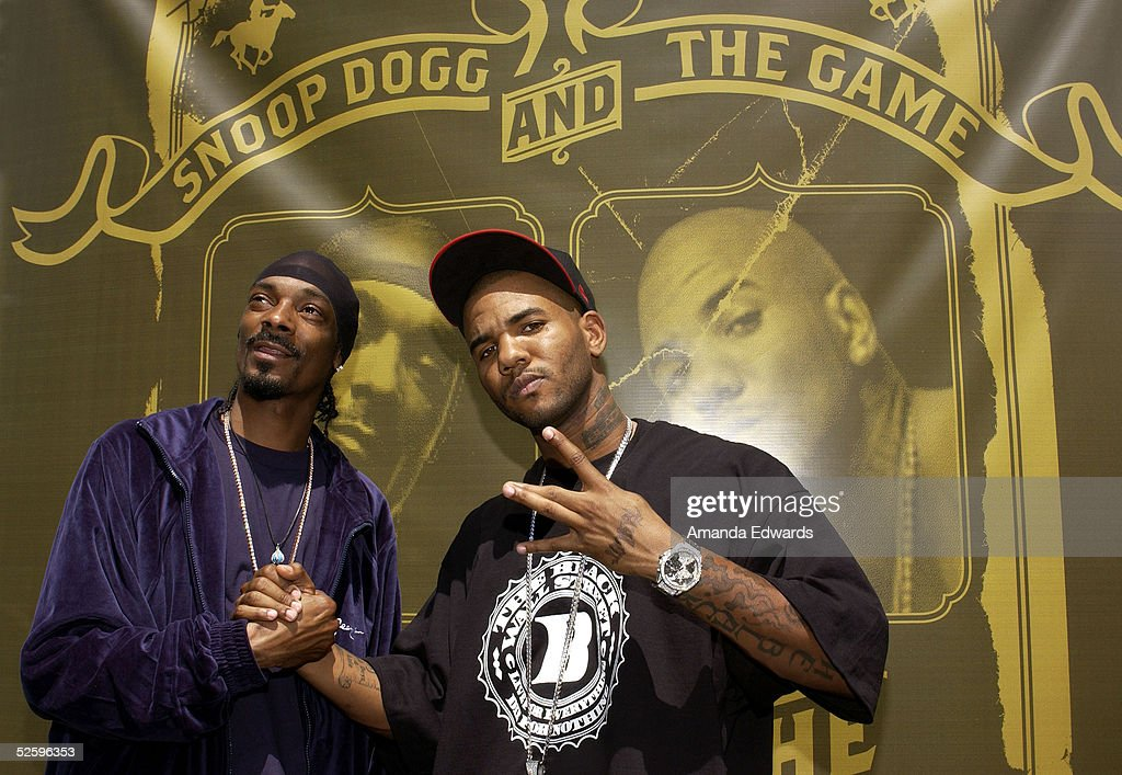 Hiphop artists Snoop Dogg and The Game hold a press conference to announce their 'How The West Was One' US Tour on April 6 2005 in Los Angeles...