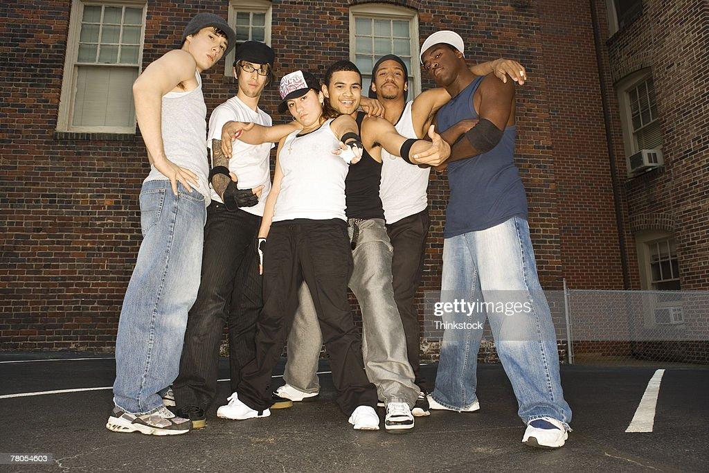 Hip-hop dance troupe : Stock Photo
