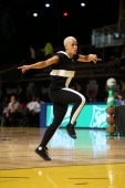 HipHop Dancer Tarryn Alberts performs during the Sprite Slam Dunk Showdown at Sprint Arena during the 2014 NBA AllStar Jam Session at the Ernest N...