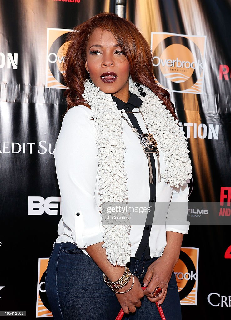 Hip-Hop DJ And Radio Personality Free attends 'Free Angela and All Political Prisoners' New York Premiere at The Schomburg Center for Research in Black Culture on April 3, 2013 in New York City.