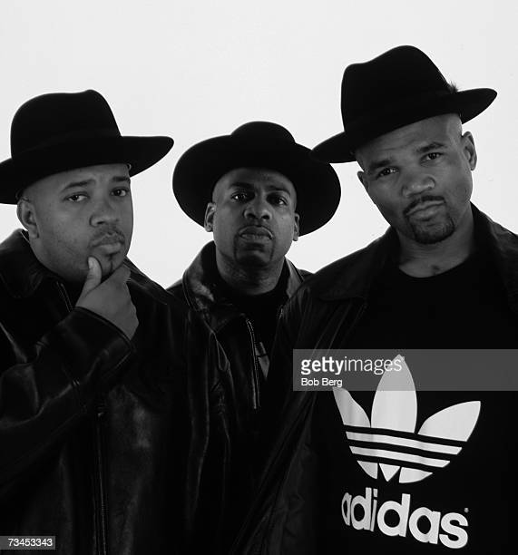 HipHop group RunDMC Joseph Simmons Darryl McDaniels Jason Mizell pose for a May 1999 portrait in Los Angeles California